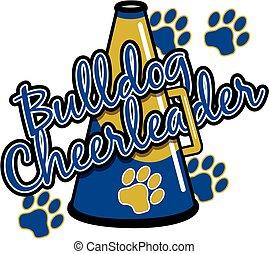 bulldog, cheerleader