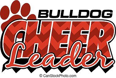 bulldog cheerleader design with chevrons