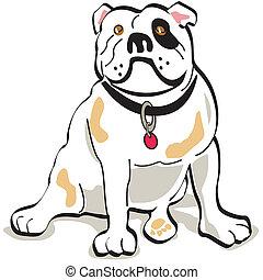 Bulldog dog clip art graphic