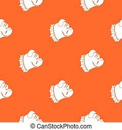 Bulldog dog pattern seamless