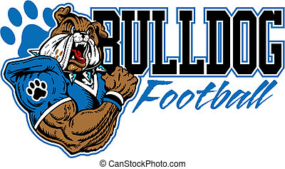 bulldog, fútbol, diseño, medio
