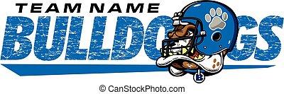 bulldog football design