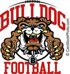 bulldog, football, disegno