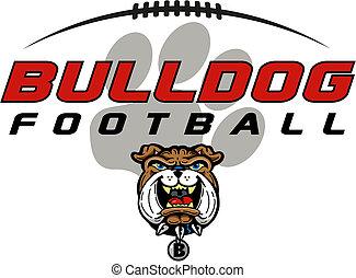 bulldog football design with mascot head