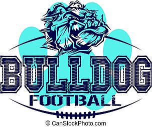 bulldog football mascot team design for school, college or...