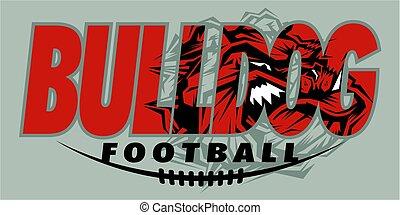 bulldog football mascot team design for school, college or...