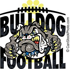 bulldog, football