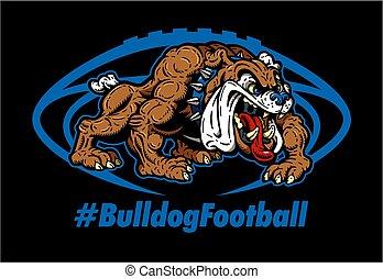 bulldog, football