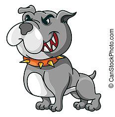 Bulldog Funny Cartoon