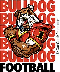 bulldog, giocatore, football