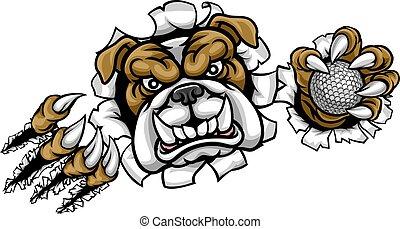 Bulldog Golf Sports Mascot