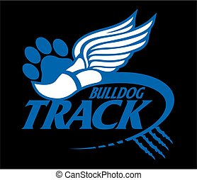 bulldog, hardloop wedstrijd