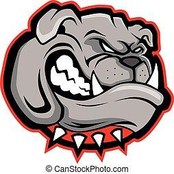 Bulldog head mascot