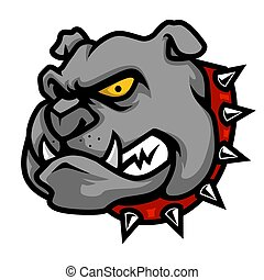 Bulldog Head Mascot Illustration in Cartoon Style
