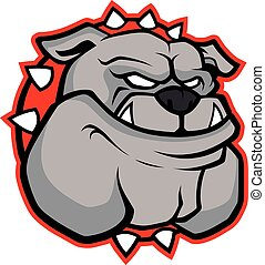 Bulldog head mascot - Clipart picture of a bulldog head...