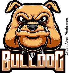 Bulldog head mascot logo