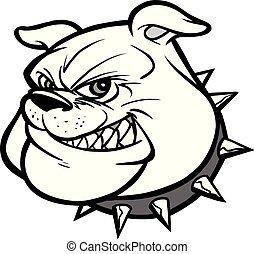 bulldog, illustrazione, mascotte