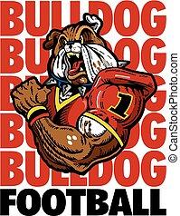 bulldog, jugador, fútbol
