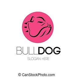 bulldog, logotipo, concetto