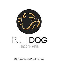 bulldog, logotipo, disegno
