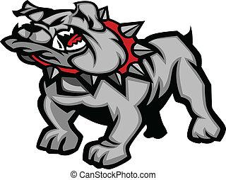 Bulldog Mascot Body Vector Illustra