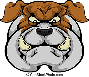 Bulldog mascot face