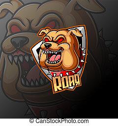 Bulldog mascot logo e sport