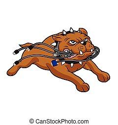 bulldog, mascotte