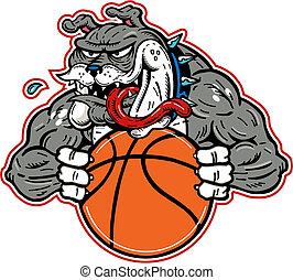 bulldog, matto, pallacanestro