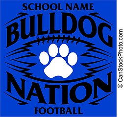bulldog nation - tribal bulldog nation football team design...
