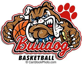 bulldog, pallacanestro, disegno