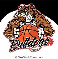 bulldog, pallacanestro, mascotte
