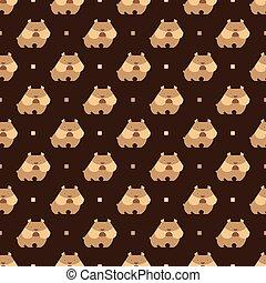 bulldog pattern - Seamless pattern with dog bulldog vector...