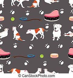 bulldog seamless pattern