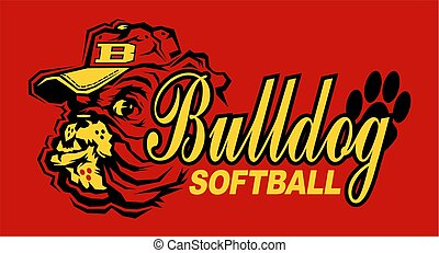 bulldog, softbal