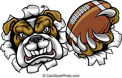 bulldog, sport, football americano, mascotte