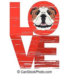 bulldog, szeret, angol