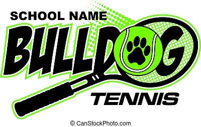 bulldog, tenis