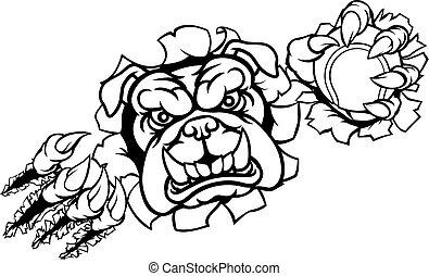 Bulldog Tennis Sports Mascot
