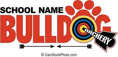 bulldog, tiro al arco