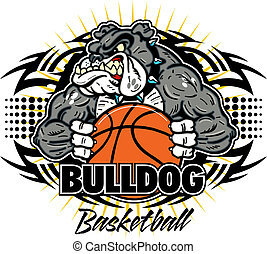 bulldog, tribal, baloncesto