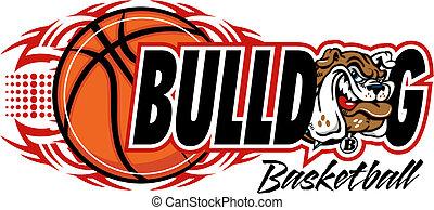 bulldog, tribale, pallacanestro