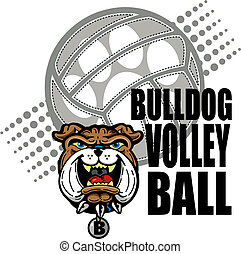 bulldog volleyball design