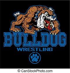 bulldog, wrestling