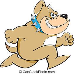 bulldogg, spring, tecknad film