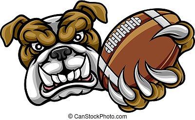 bulldogge, amerikanische , fußball, maskottchen