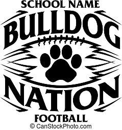 bulldogge, fußball, nation