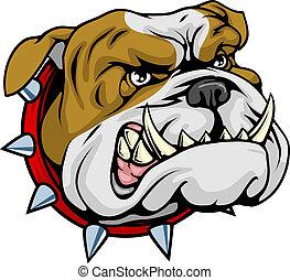 bulldogge, mittel, abbildung, maskottchen
