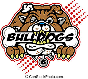 bulldogge, riesig, knochen