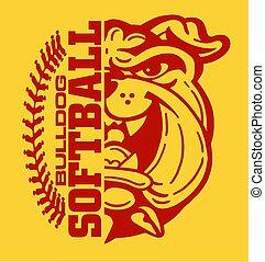 bulldogge, softball